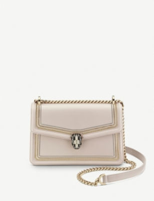 BVLGARI Serpenti Forever three-chain leather shoulder bag
