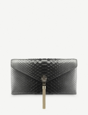 BVLGARI Serpenti Forever python-leather cocktail clutch