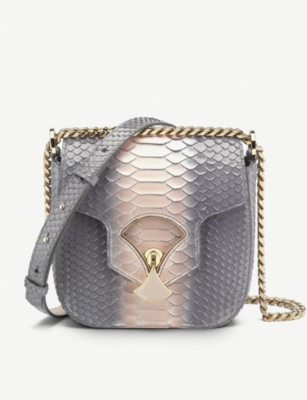 BVLGARI Divas' Dream two-tone snakeskin cross body bag