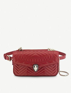 BVLGARI Serpenti Forever quilted-leather belt bag