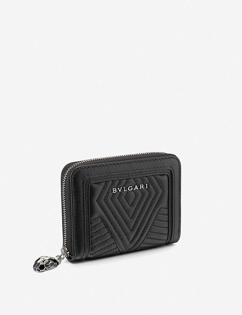BVLGARI: Logo-embossed leather wallet