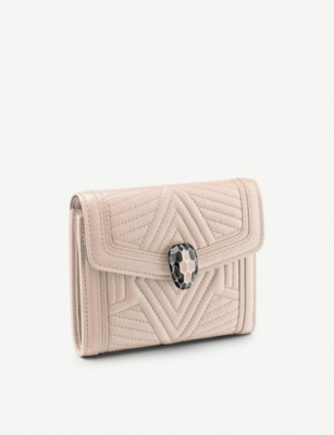 BVLGARI Serpenti Forever 3-way folding leather wallet