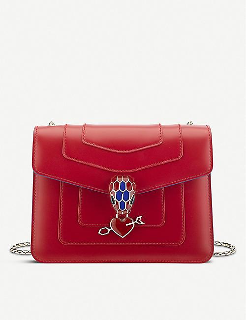 BVLGARI Electro Love Serpenti Forever leather shoulder bag e18f6312f63cc
