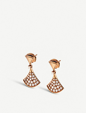 BVLGARI Divas' dream 18kt pink-gold and diamond earrings