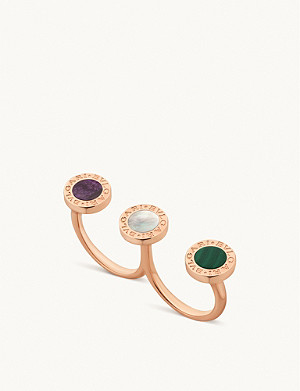 BVLGARI BVLGARI BVLGARI 18ct rose-gold and mother-of-pearl ring