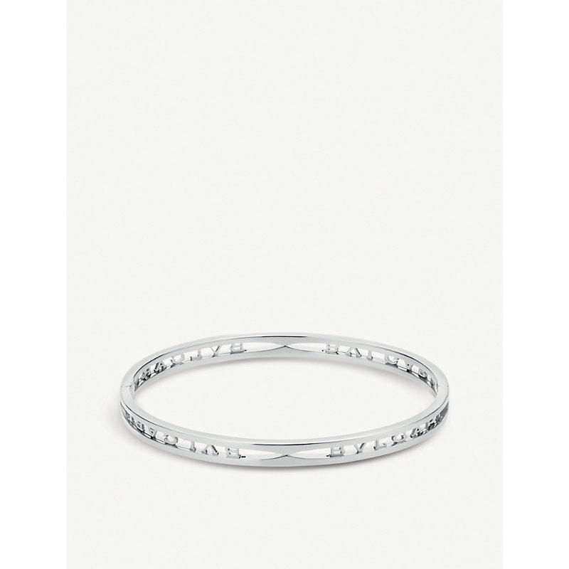 BVLGARI   B.Zero1 18ct White-Gold Bracelet   Goxip