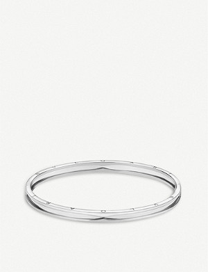 BVLGARI B.zero1 18ct white-gold bangle bracelet