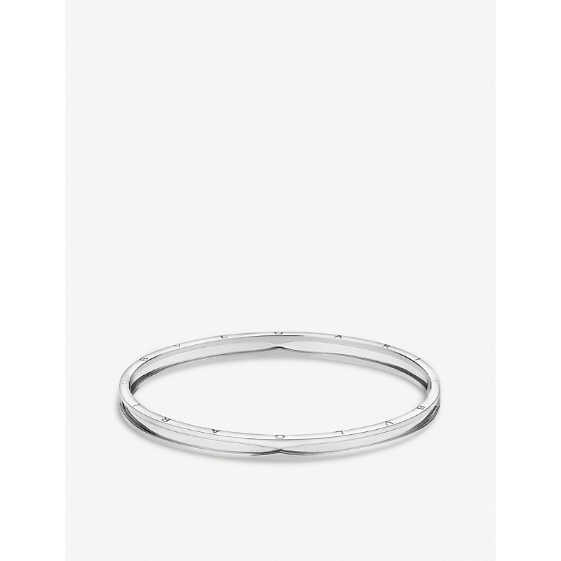 BVLGARI   B.Zero1 18ct White-Gold Bangle Bracelet   Goxip