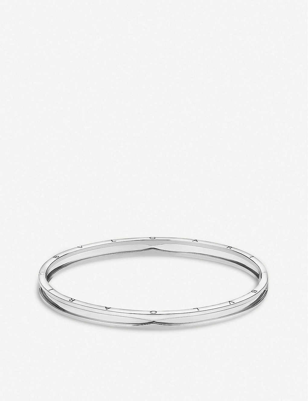 BVLGARI: B.zero1 18ct white-gold bangle bracelet