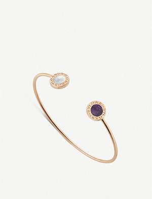 BVLGARI Bvlgari Bvlgari 18ct rose-gold, mother-of-pearl and sugilite bracelet