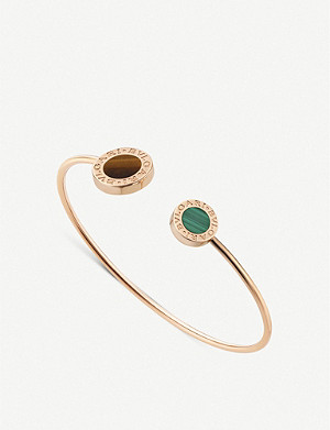BVLGARI Bvlgari Bvlgari 18ct rose-gold, tiger's eye and malachite bracelet
