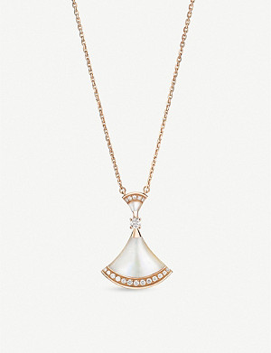 BVLGARI Divas' Dream 18ct rose-gold, mother-of-pearl and diamond necklace