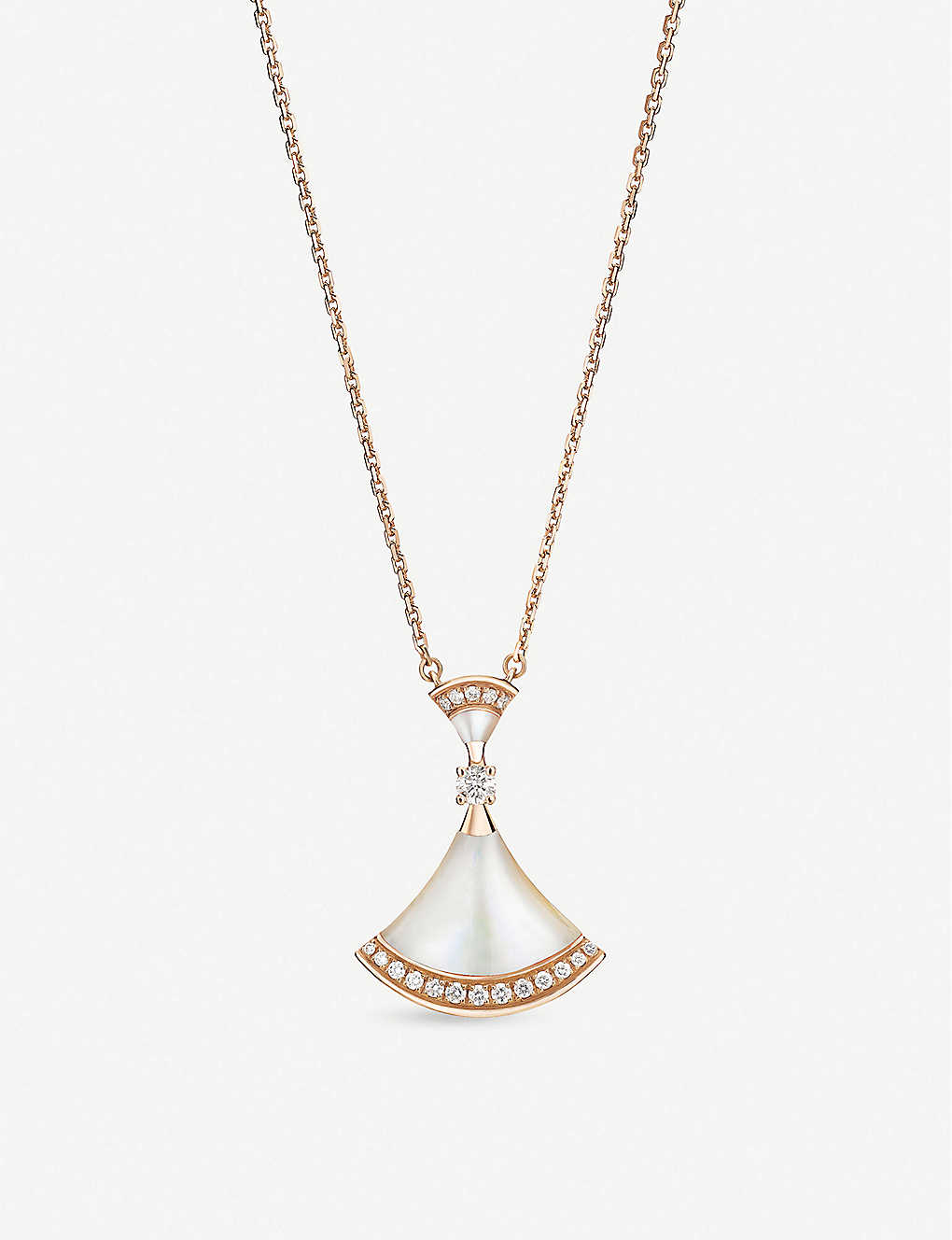 BVLGARI: Divas Dream 18ct rose-gold, mother-of-pearl and diamond necklace