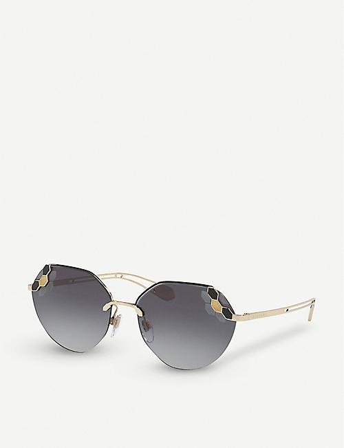 1106e156685 BVLGARI Serpenti Poisoncandy cat-eye sunglasses