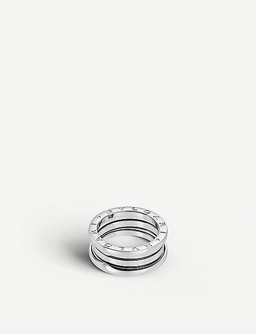 BVLGARI: B.zero1 three-band white gold ring