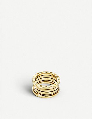 BVLGARI: B.zero1 four-band 18kt yellow-gold ring