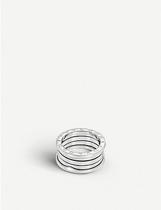 BVLGARI: B.zero1 four-band white-gold ring