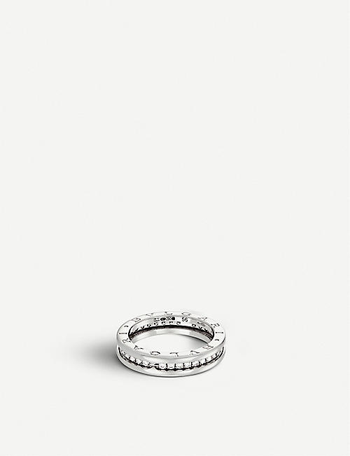 BVLGARI: B.zero1 18kt white-gold and pavé-diamond ring