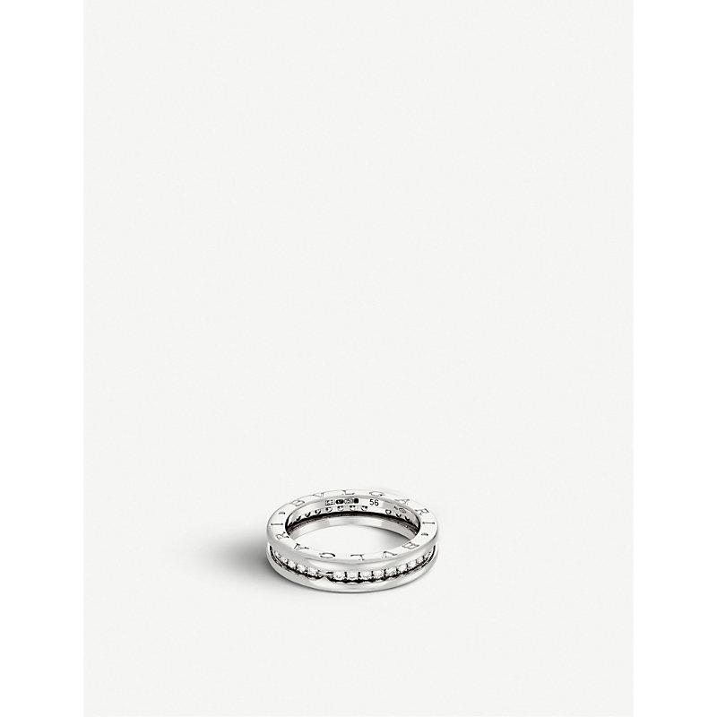 BVLGARI   Bvlgari B.Zero1 18kt White-Gold And Pavé-Diamond Ring, Women'S, Size: 53mm, White   Goxip