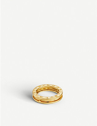 BVLGARI: B.zero1 one-band 18kt yellow-gold ring