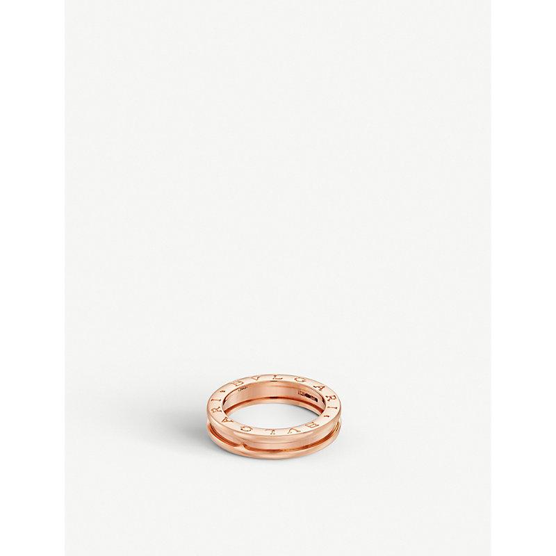BVLGARI   Bvlgari B.Zero1 One-Band 18kt Pink-Gold Ring, Size: 50mm   Goxip