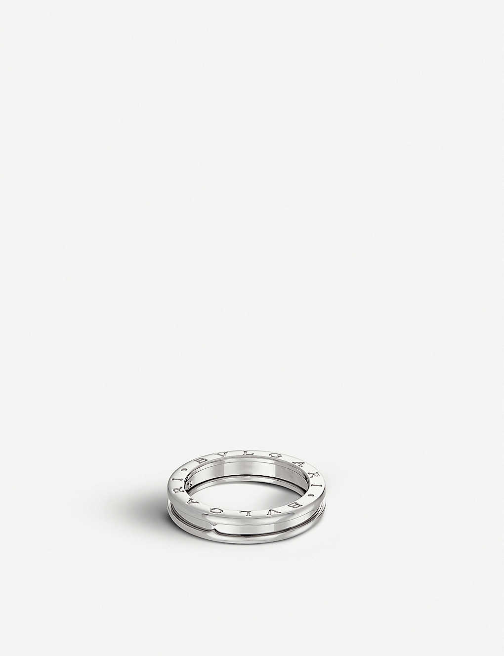 B Zero1 One Band 18ct White Gold Ring
