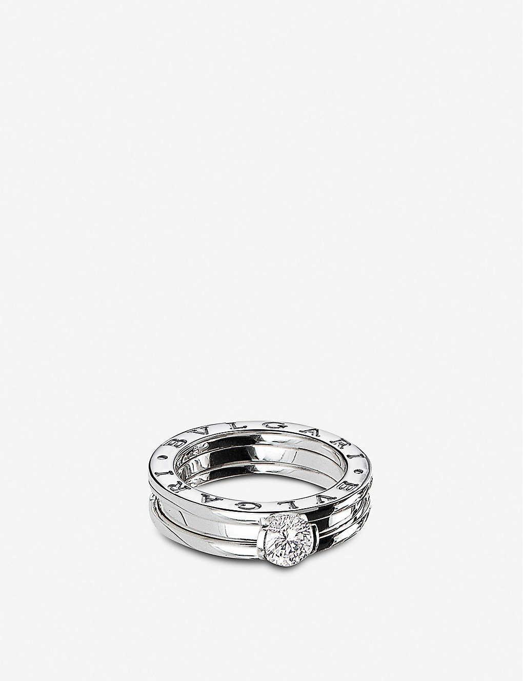 090d40006 BVLGARI - B.zero1 18ct white-gold and diamond solitaire ring ...