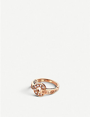 BVLGARI: BVLGARI-BVLGARI 18kt pink-gold and diamond ring
