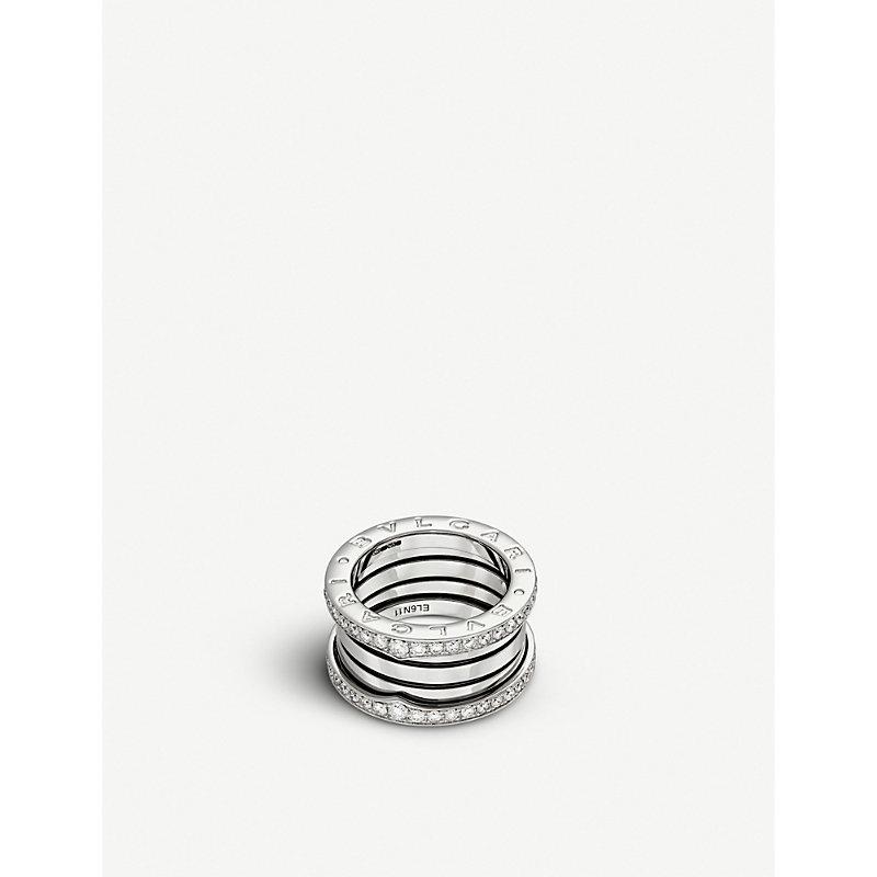 BVLGARI   Bvlgari B.Zero1 Three-Band 18kt White-Gold Ring, Women'S, Size: 51mm, White   Goxip