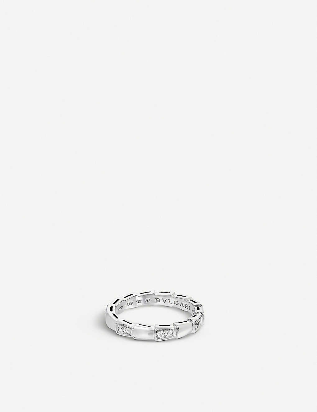 BVLGARI: Serpenti 18kt white-gold and diamond ring