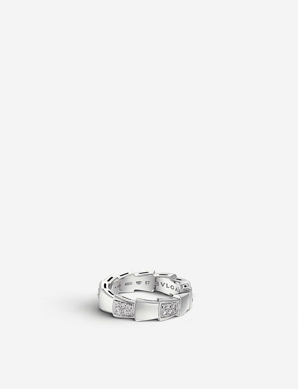 668161d9a485f BVLGARI - Serpenti 18ct white-gold and diamond ring | Selfridges.com