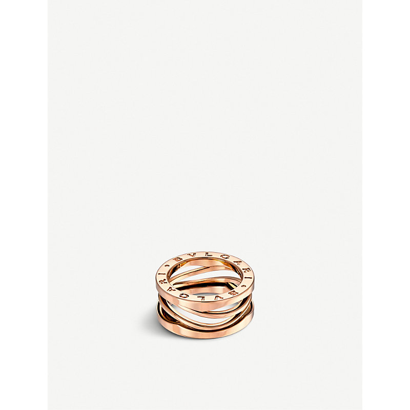 BVLGARI   Bvlgari B.Zero1 Zaha Hadid Three Band 18ct Pink-Gold Ring, Size: 60mm, Pink Gold   Goxip