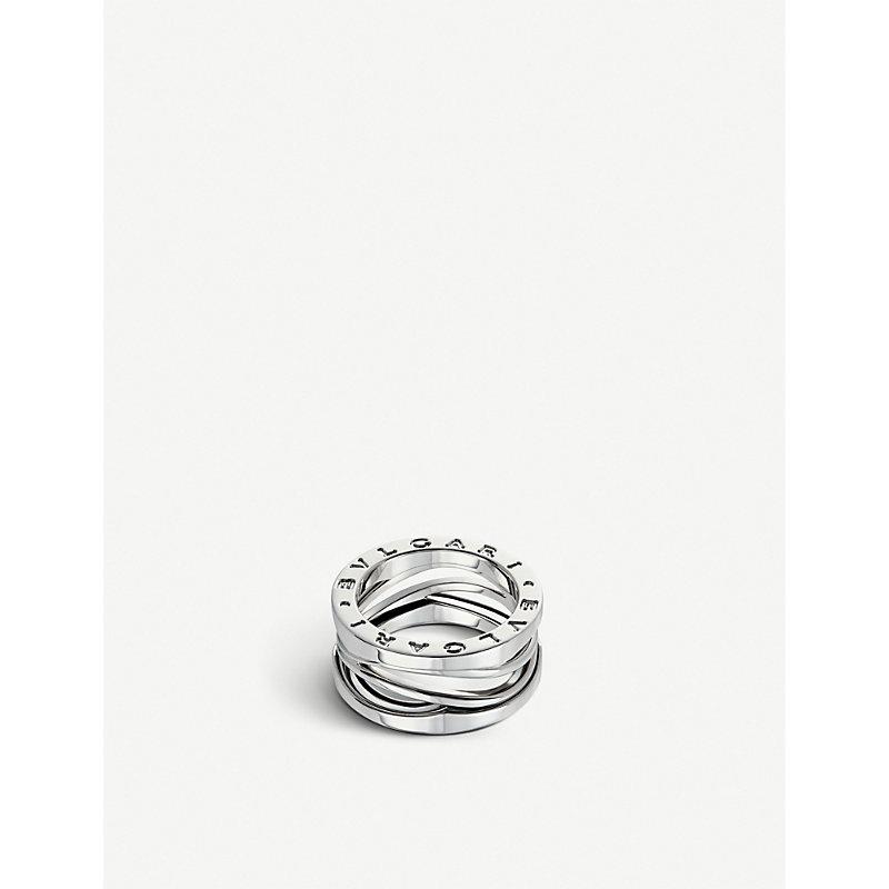 BVLGARI   Bvlgari B.Zero1 Zaha Hadid Four Band 18ct White-Gold Ring, Size: 53mm, White Gold   Goxip