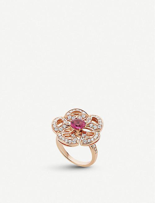cbaebd157 BVLGARI Divas' Dream 18ct rose-gold pink tourmaline and pavé diamond ring