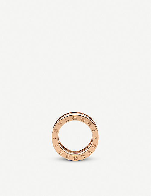 BVLGARI B.zero1 Design Legend four-band 18ct rose-gold and white ceramic ring