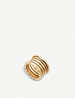 BVLGARI B.zero1 XXth Anniversary five-band 18kt yellow gold ring