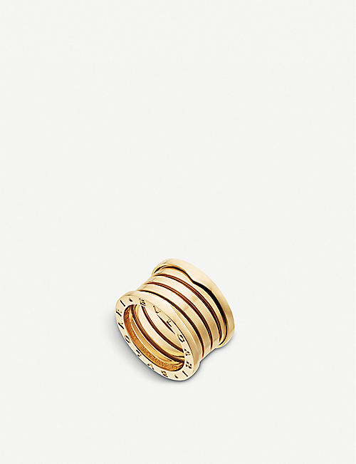 BVLGARI: B.zero1 XXth Anniversary five-band 18kt yellow gold ring