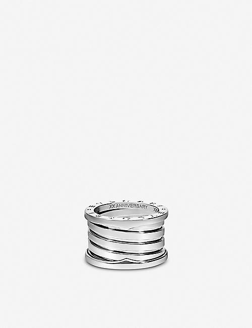BVLGARI B.zero1 XXth Anniversary engraved 18ct white-gold ring
