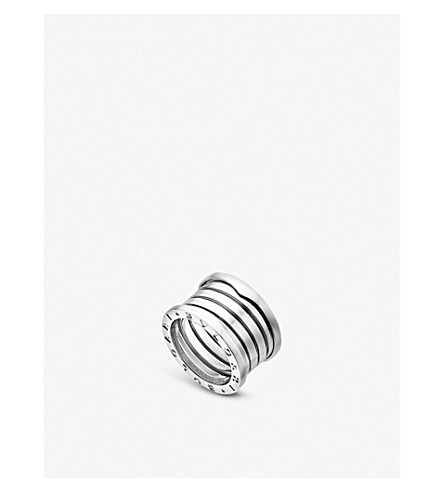 Bvlgari B.zero1 XXth Anniversary engraved 18ct white-gold ring