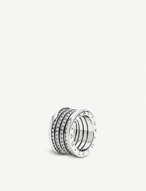 BVLGARI B.zero1 XXth Anniversary five-band 18kt white gold ring