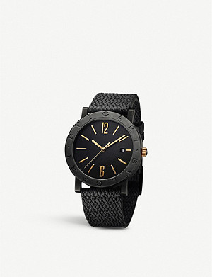 BVLGARI BVLGARI BVLGARI Solotempo carbon and bronze watch
