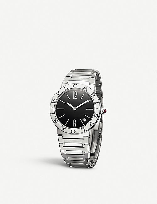 BVLGARI: 102923 Bvlgari Bvlgari stainless steel and diamond watch
