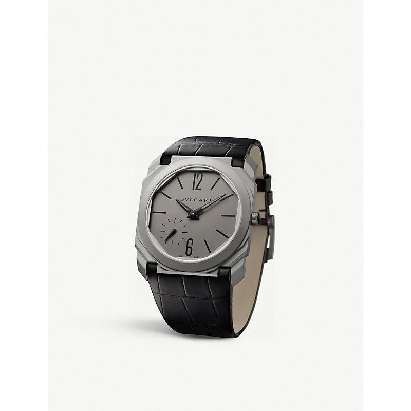 BVLGARI   Octo Finissimo Titanium Watch   Goxip