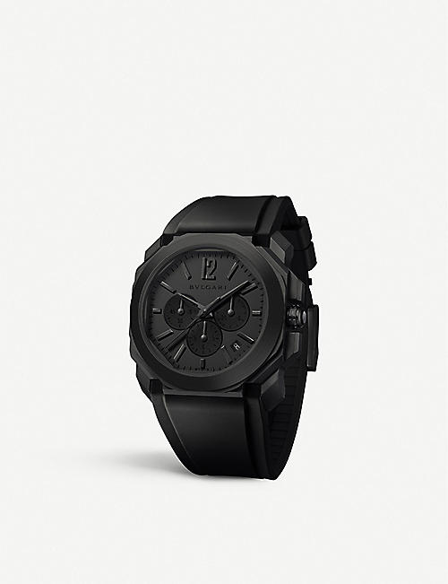 BVLGARI: 103027 Octo L'Originale coated stainless steel chronograph watch