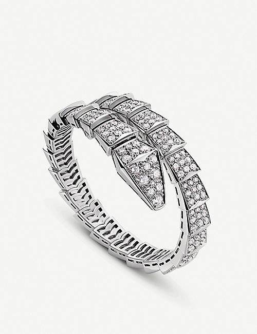 BVLGARI: Serpenti 18ct white-gold and diamond bracelet