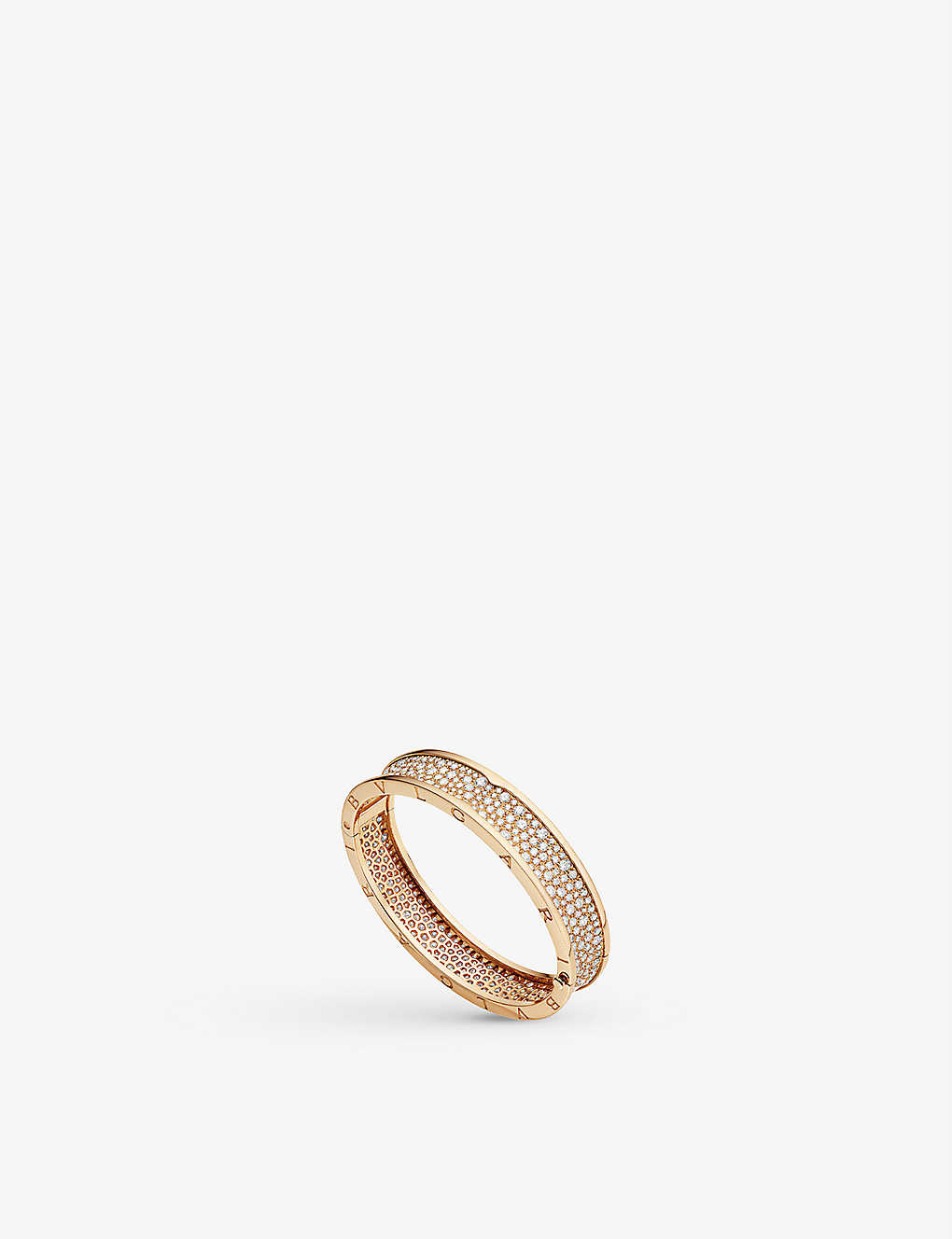 BVLGARI: B.zero1 18kt pink-gold and diamond bangle