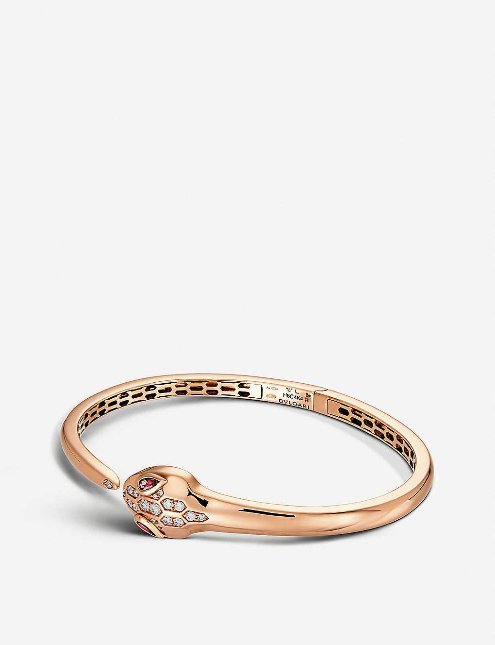 296d84d3d0b BVLGARI Serpenti Seduttori 18kt pink-gold, diamond and rubellite bracelet
