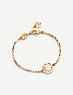 BVLGARI Bvlgari Bvlgari 18kt pink-gold and mother of pearl bracelet