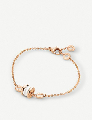 BVLGARI B.Zero1 mini 18ct rose-gold and white ceramic bracelet