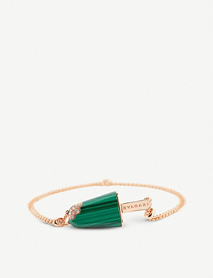 BVLGARI BVLGARI BVLGARI Gelati 18ct rose-gold, malachite and pavé diamond bracelet
